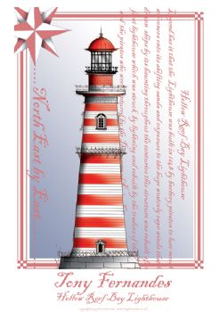 The Hollow Reef Lighthouse - signed print